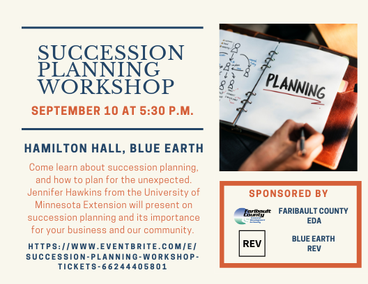 Sign up for the Succession Planning Workshop!